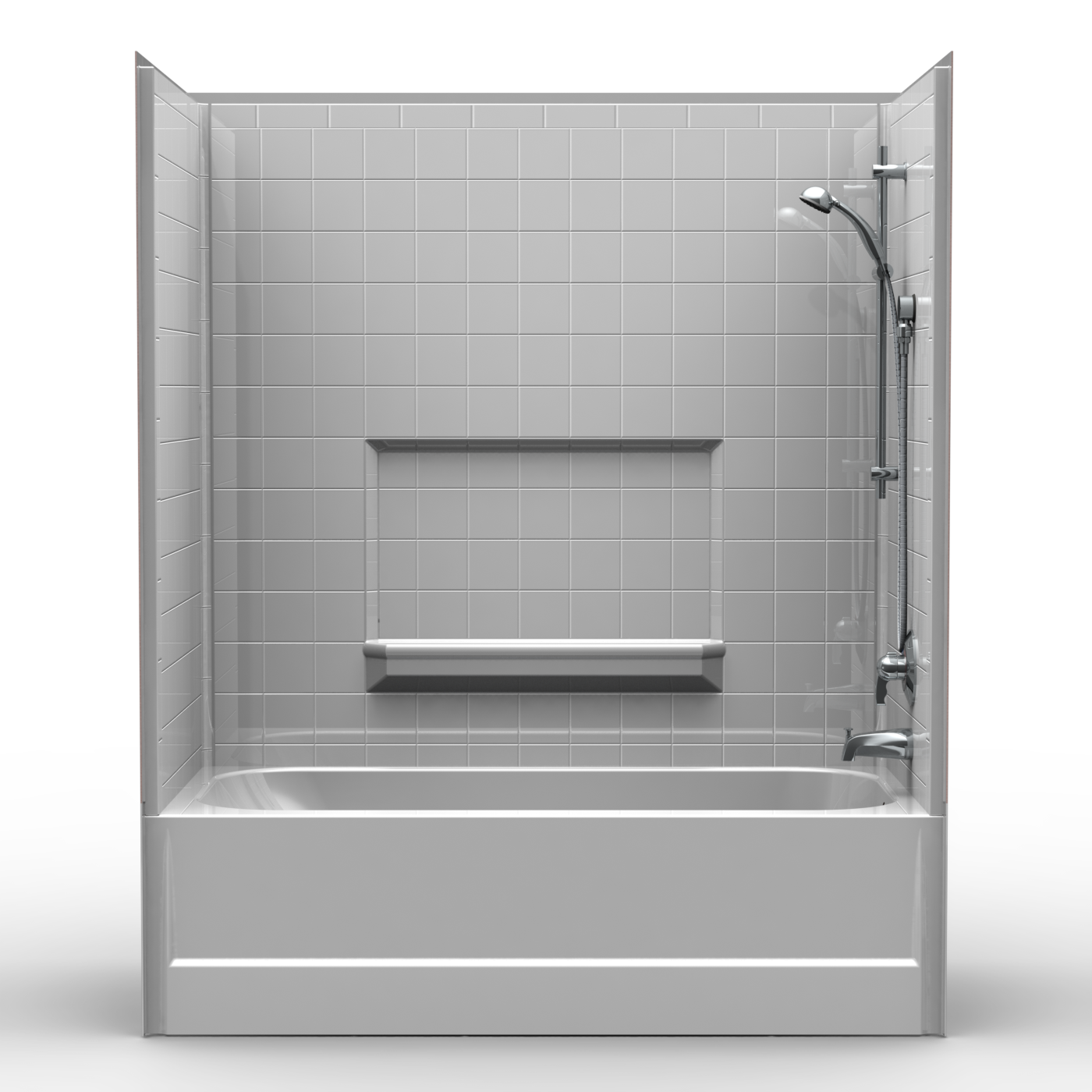 Multi piece tub shower 60 x 30 x 72 shower tub combo for Garden bathtub shower combo